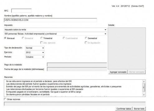 contribuyente no localizado declaracion de razones por las que no se realiza el pago
